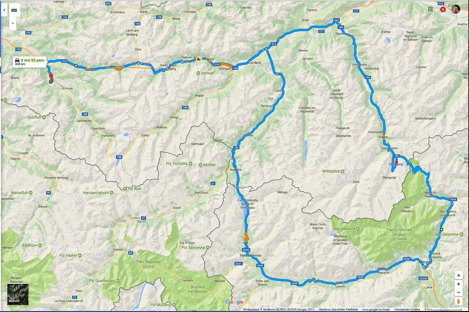 sonnenstein ausztria térkép Felderítő körutazás – Vorarlberg(A) – Merano(I) – Nauders(A  sonnenstein ausztria térkép